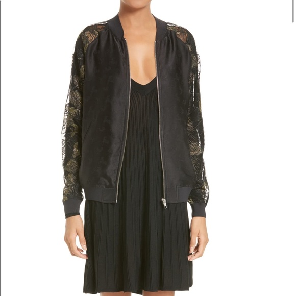 Opening Ceremony Jackets & Blazers - Opening Ceremony Gestures Lace Bomber Jacket